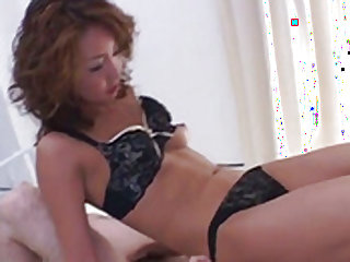 Luna Mikami sucks and rides cock