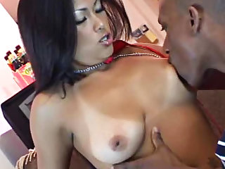 Black guy finds the Asian pussy arousing