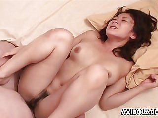 Sucking and fucking on the round boobs babe