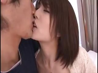 Pretty Busty Japanese MILF's Hairy Cunt Fucked