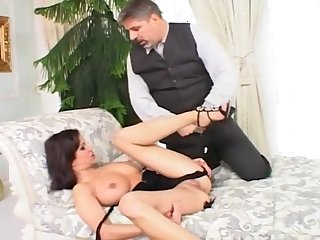 Masturbating Babe Gets Both Holes Fucked