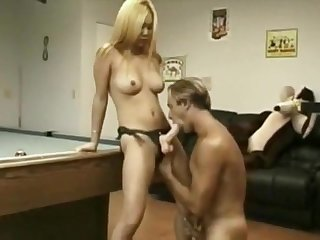 Pegged blonde Asian Sammy - An old favorite