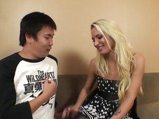 Asian men taste white girls 37