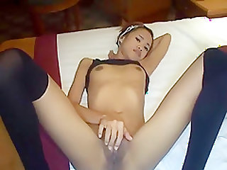 Exotic Amateur record with College, Asian scenes