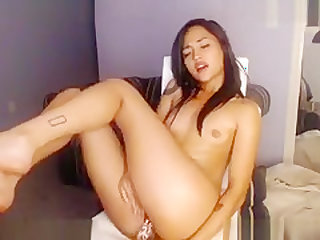Crazy Webcam record with Masturbation, Asian scenes