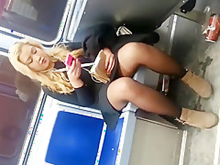 train upskirt on chubby girl