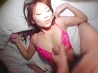 hot pretty Japanese fuck from outside to the bed part 6